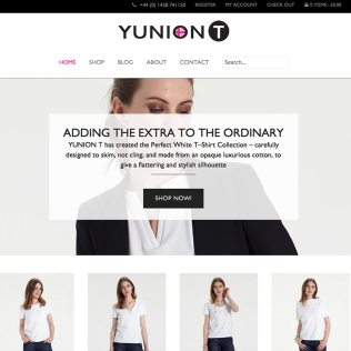 Ecommerce Website Design, SEO Optimisation, YUNIONT