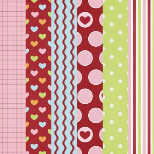 Valentine Scrapbook Papers Free Printables