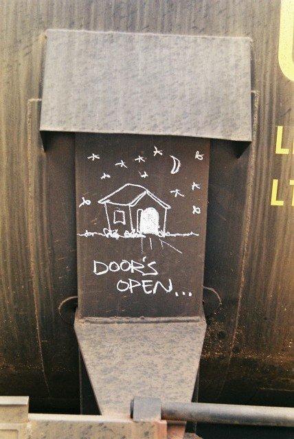 Doors Open... Train Hobo Marking