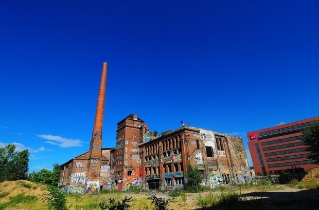 The abandoned Eisfabrik in Berlin, Germany