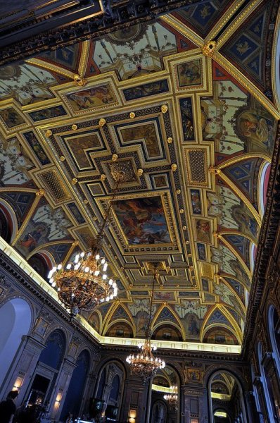 neo renaissance fresco lotz terem budapest hungary