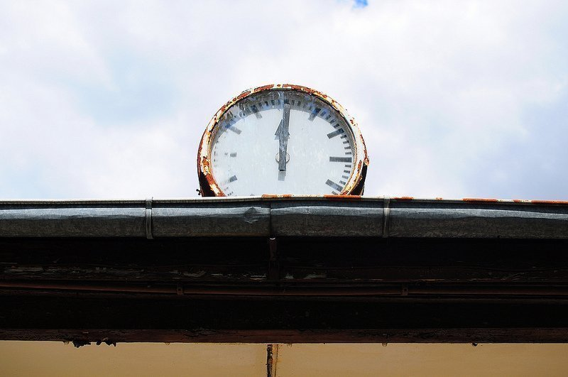 abandoned pool house clock berlin