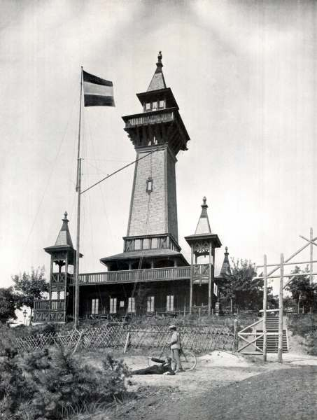 The historic Müggelturm around 1900