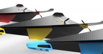 Carbon Flyer, um avião de controle remoto que parece feito de papel