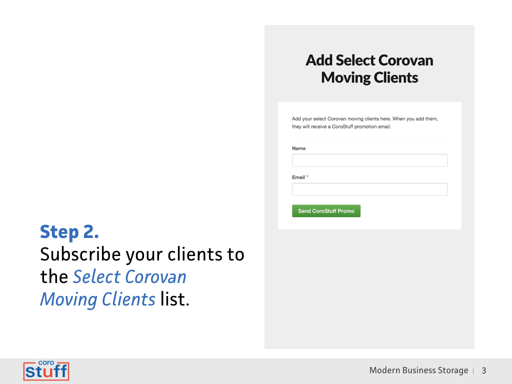 clients subscribe to offer