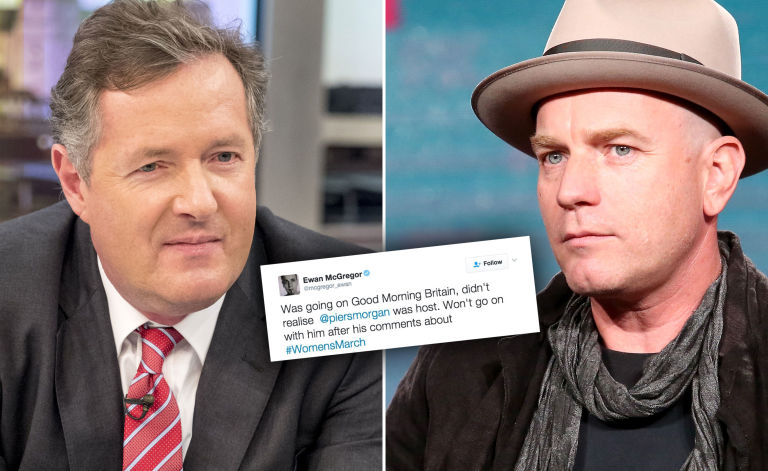 Piers Morgan, Ewan McGregor, cancels appearance on Good Morning Britain