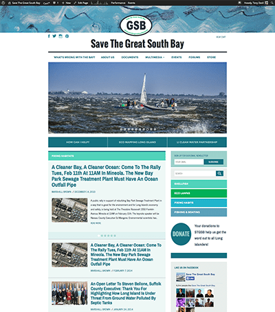 Screenshot of Home Page - SaveTheGreatSouthBay.org