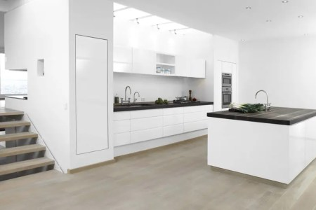high gloss white with wenge kitchen 2