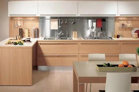 light oak wooden kitchen sistema zeta