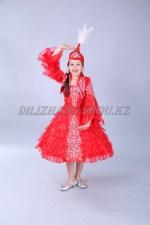 0087. Казахский костюм Карлыгаш красный