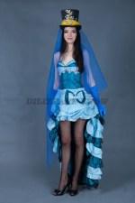 5706. Женский костюм для кабаре. Платье трансформер.