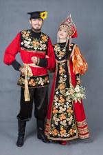 5782. Хохлома. Русские парные костюмы.