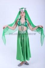 33291. Детский костюм для восточных танцев. Зеленый.