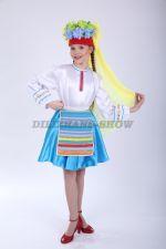 4060. Белорусский народный костюм для девочки танцевальный