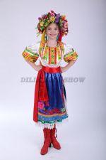 4261. Украинский народный костюм для девочки-танцевальный