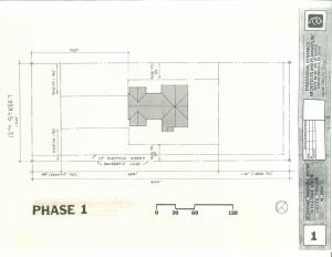PHASE ONE SITE PLAN