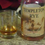 I celebrated with a measure of some fine Templeton Rye.
