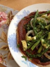 GD Meg's easy mole w/ grilled veggies