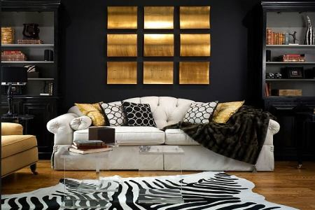 10 ideas on how to decorate your living room with dark colors8