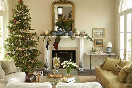 get inspired with these amazing living rooms decor ideas for christmas7