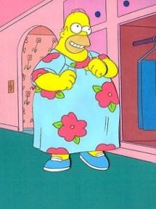 Homer in a MuuMuu