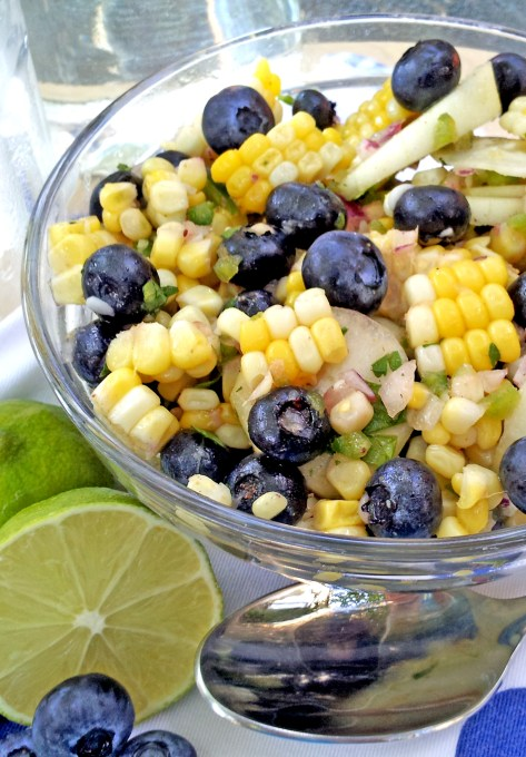 Chilled Corn & Blueberry Salad