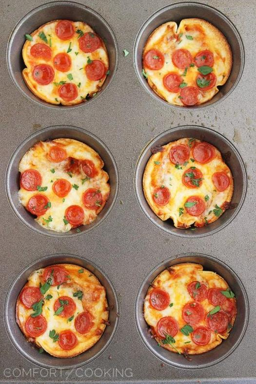 Mini Tortilla Pepperoni Pizzas