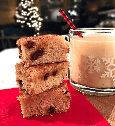 Spiked Eggnog Blondies