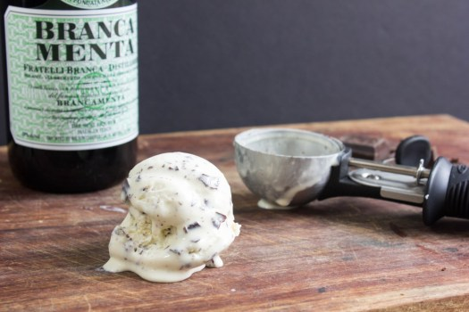 Drunken Mint Chocolate Chip Ice Cream