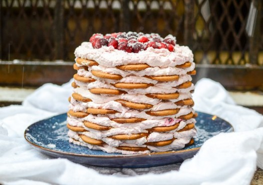 Gingersnap-Icebox-Cake-with-Cranberry-Mascarpone-Whipped-Cream-3