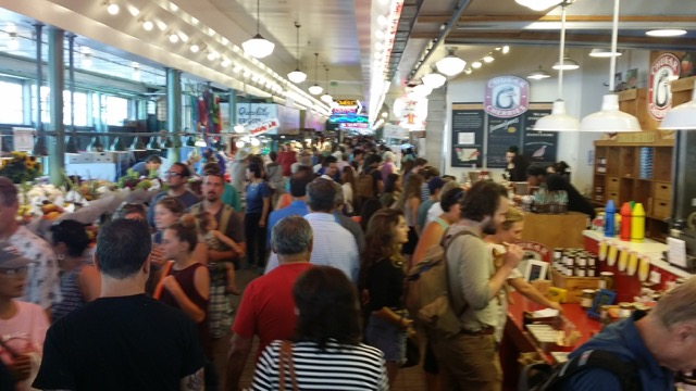 Pike Place in Seattle, WA is a zoo at 3pm