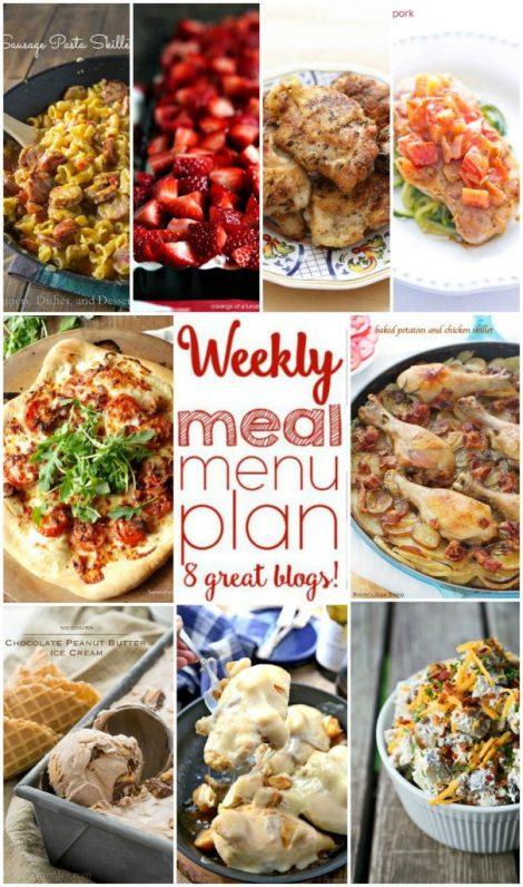 Weekly Meal Plan Week 6 - 9 top bloggers bringing you 6 dinner recipes, 1 side dish and 2 dessertsto make a quick, easy, and delicious week!