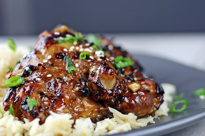 and sweet, this chicken is roasted in the oven covered in a Honey-Soy ...