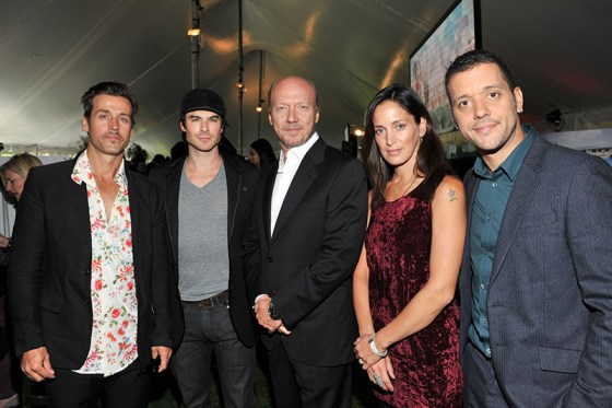 Raine Maida, Paul Haggis, Chantal Kreviazuk and George Stroumoulopoulos