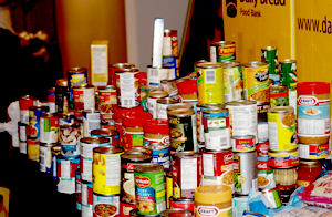 Canned goods Provided for the Blue Bird event