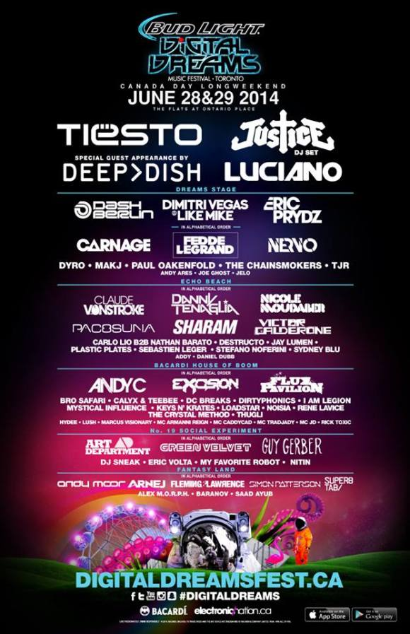 Digital Dreams 2014 - Full Lineup