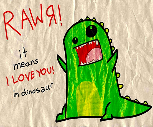 dino-love-luv-cute-adorable-drwing-of-kids-in-dino-costum-in-love-rawr-means-it-love-you-in-dinosaur