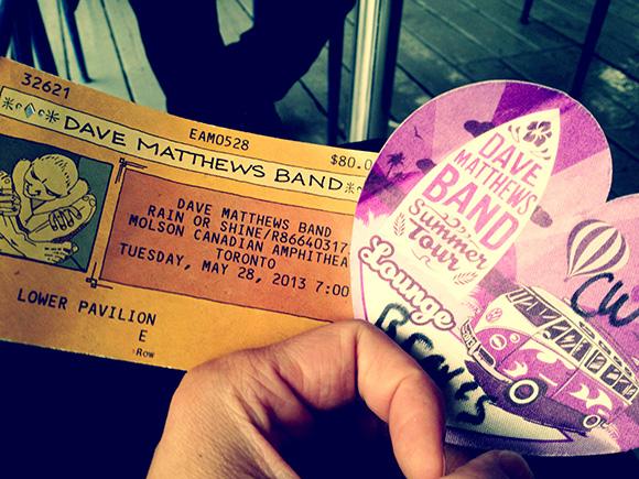 Dave Matthews Band - Toronto May 2013 - Tickets