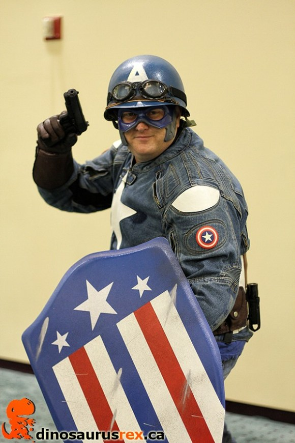 retired captain america cosplay