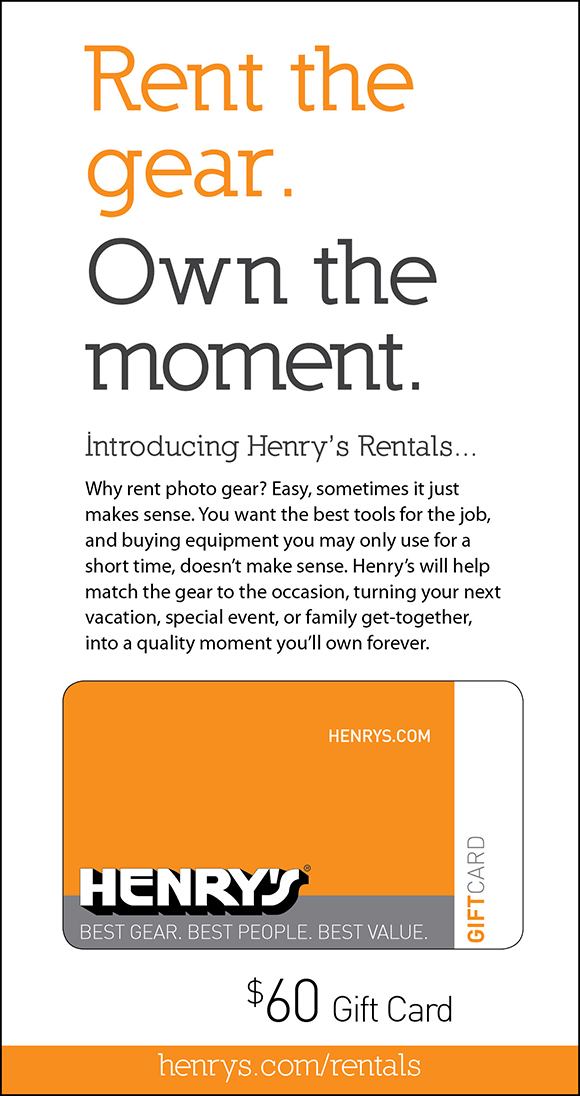 Henry's $60 Gift Card Sweepstakes