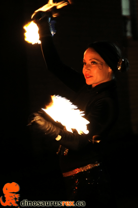 Fire Dancing - Ice, Wine & Dine - Winter Magic Festival