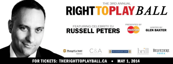 Right To Play Ball 2014 with Russell Peters