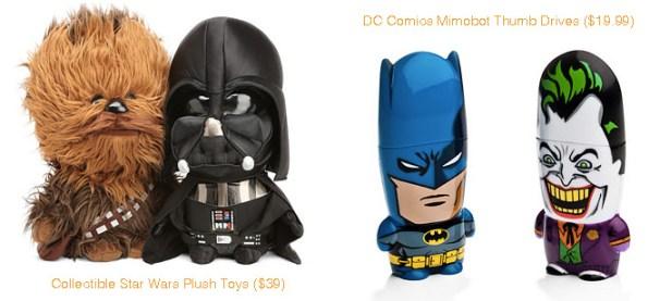 Star Wars Collectible Star Wars Plush Toys & DC Comics Mimobot Thumb Drives