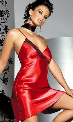 Madeleine II czerwona halka z satyny XL