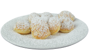 Poffertjes with powdered sugar