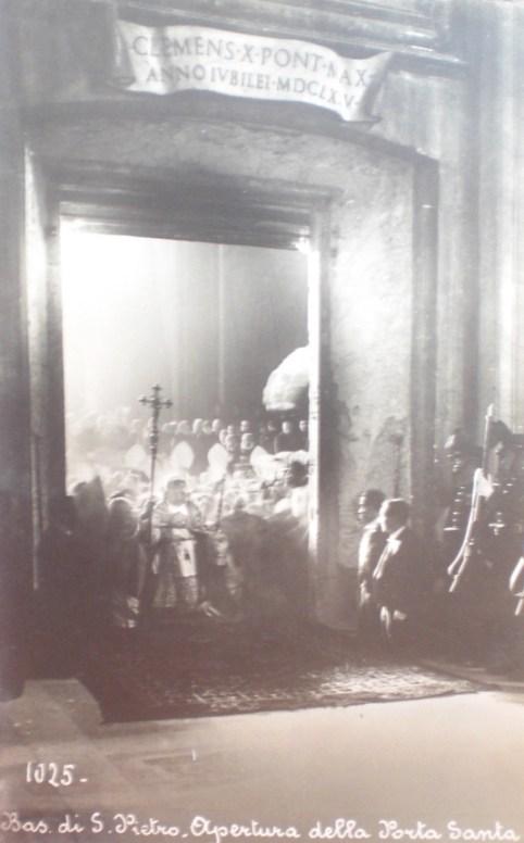 Pio XI abertura Porta Santa Jubileu