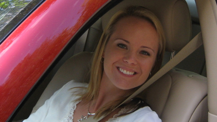 Valarie Boatman testing the new Chevy Volt.jpg