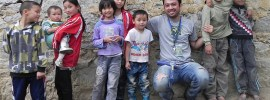 Cagatay Atmaca with children in Beijing China. Photo submitted.