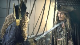 "Geoffrey Rush and Johnny Depp star in ""Pirates of the Caribbean: Dead Men Tell No Tales."" (AP)"