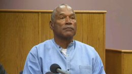 Former NFL football star O.J. Simpson appears via video for his parole hearing at the Lovelock Correctional Center in Lovelock, Nev., on Thursday, July 20, 2017.  (AP)